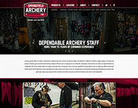 Web & Print Design for Springfield Archery