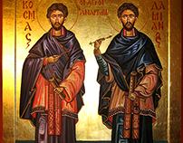 Ikon  - Ikona , Sveti Vracevi Kozma I Damjan