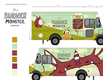 The Sandwich Monster - Food truck Branding and Design