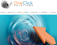 One Click Solutions website