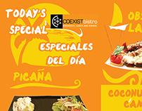 Tent Card Promociones Diarias Restaurante
