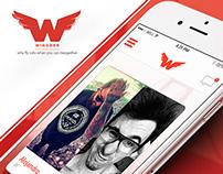 Wingder - UIX social Mobile App