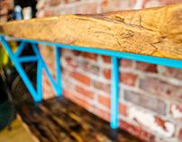 Grindstone cafe serving table