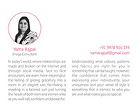 Flyer for an image consultant