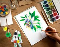 Passion flower or Passiflora.