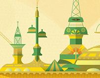 BP Oil Rig Poster