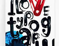 I love typography poster. Experimental set of brushes.