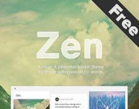 Zen - Free Tumblr Theme