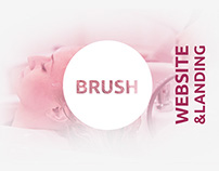 Website and landing page beauty salon BRUSH