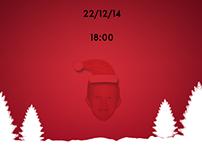 Christmas Themed Birthday Invitation