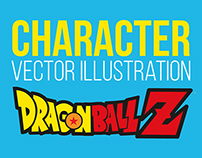 Character design Dragon ball Z - Vector Illustration