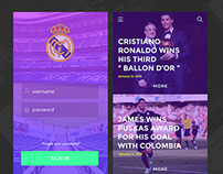 Real Madrid concept app