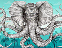 "Alexis Diaz ""Octophant"" - Screen Print"