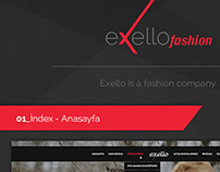 Exello Fashion Web İnterface Design