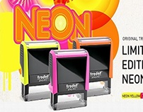 Limited Edition Neon Printy Rubber Stamps