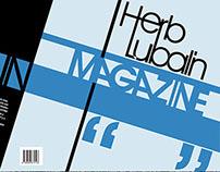 "Diseño Editorial, ""Herb Lubalin Magazine"""