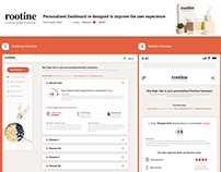 Web app redesign for a healthcare firm