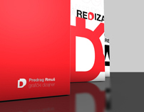 REDDIZAJNA branding for new graphic design studio