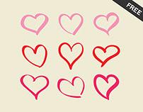 Freebie - 9 hearts