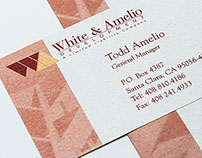 White & Amelio logo and business stationery