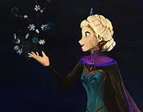 Elsa from FROZEN - In Watercolors