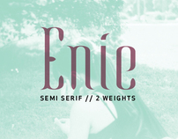 Enie Typeface // In progress