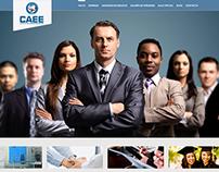 Página web Centro de Altos estudios empresariales