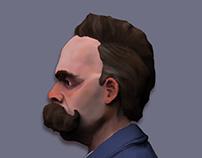 Nietzsche /// 3D portrait