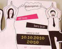 wedding card for yoga tutor couple