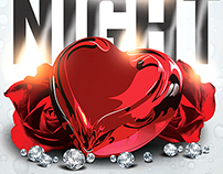 Love Night Valentine's Day Free Flyer Template