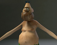 Lowpoly Chuck Rock game character