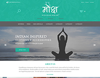 Website Design for Moksha Wear