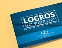 """Reporte anual """"Logros UN Sede Bogotá 2014"""""""