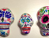 Clay/ painted sugar skulls