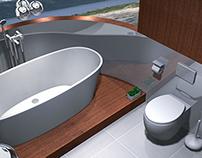 Projekt łazienki na konkurs Excellent Design.