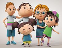 Famille 3D / 3D Family