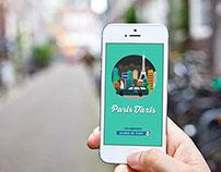 Paris Taxis App & illustrations