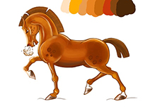 Horse character illustration
