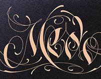 'Medo 30' Lettering