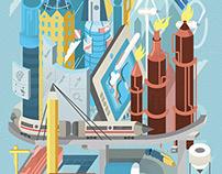 Pen industrial city