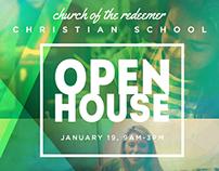 Redeemer School Open House Graphic