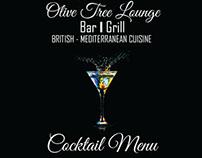 Olive Tree Lounge Cocktail Menu