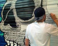 DINKC x SIKE Garage door mural