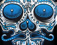 DINKC skull mural in KC