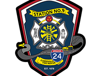 Clarksville Fire Rescue - Patch Design
