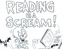 Reading is a Scream Educational Poster Layout