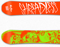 Shredless Snowboard & Tee Design