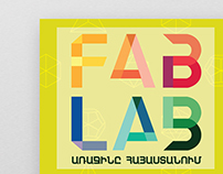 Poster options for opening the FAB LAB in Armenia