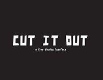 Cut it out - free display typeface