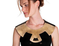 Golden Leather Jewelry